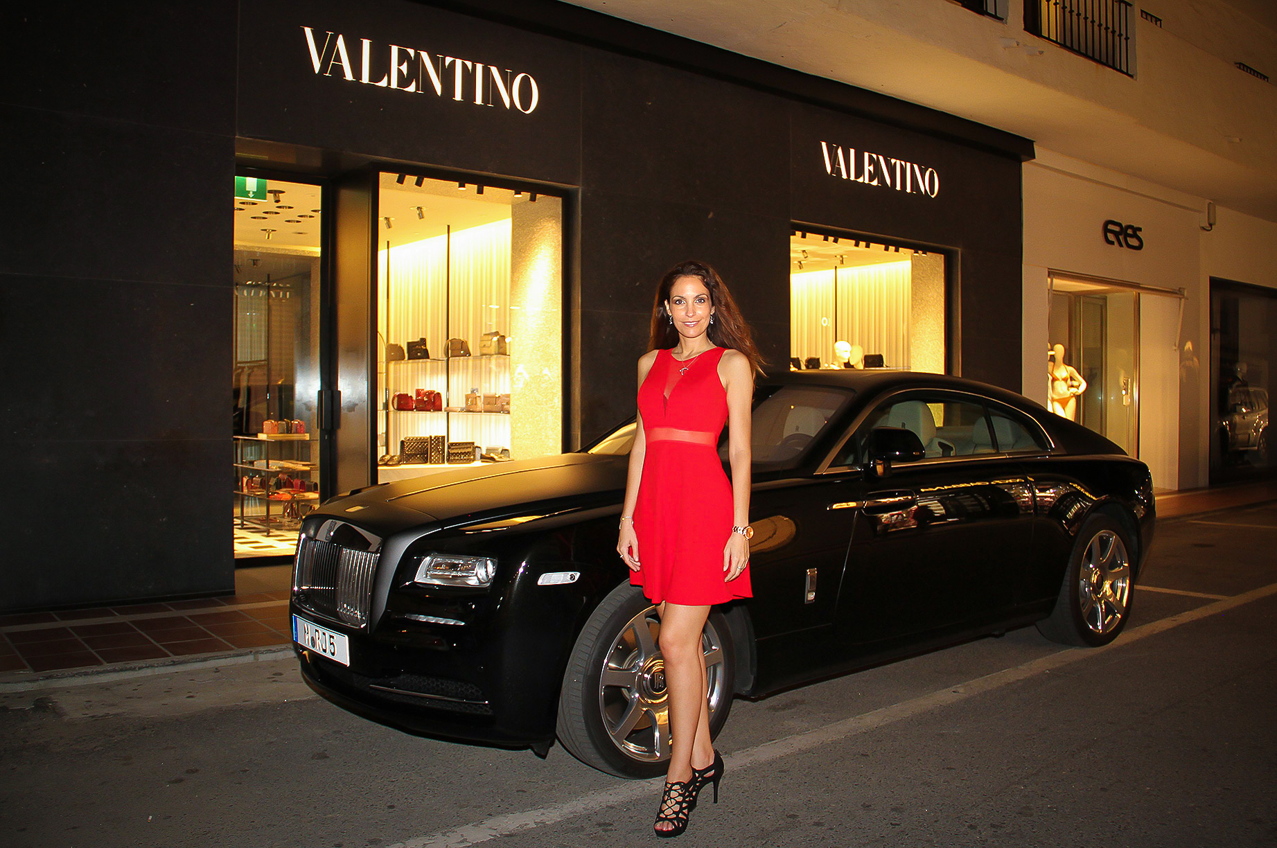 Ariana Soffici Red Valentino Rolls Roice Style Passion TV Marbella Luxury Weekend
