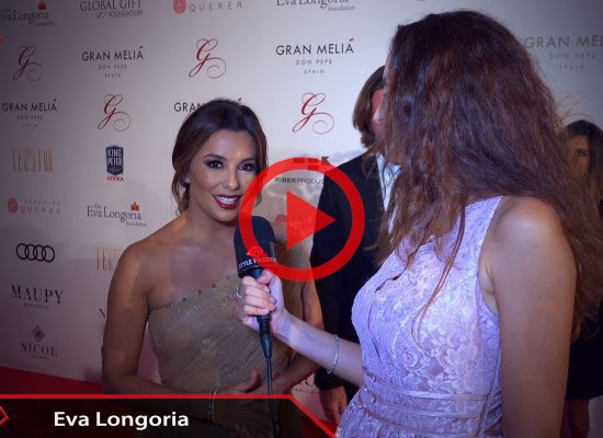 Eva Longoria and Ariana Soffici at Global Gift Gala Marbella 2017