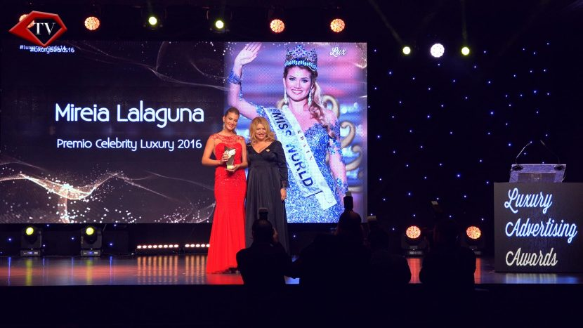 Miss World Mireia Lalaguna Luxury Advertising Awards